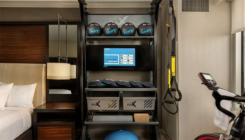 Train While Travelling. The Fit Hotel Room