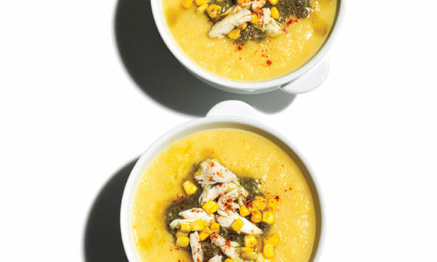 Frozen Assets: Salmon Curry & Corn, cauliflower, and Crab Soup